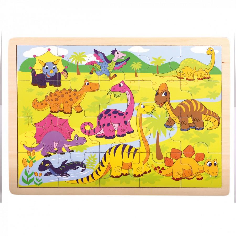 Bino 88079 - Puzzle, Dinosauři