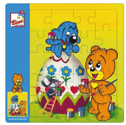 Bino 13410 - Puzzle Méďa Pusík velikonoce