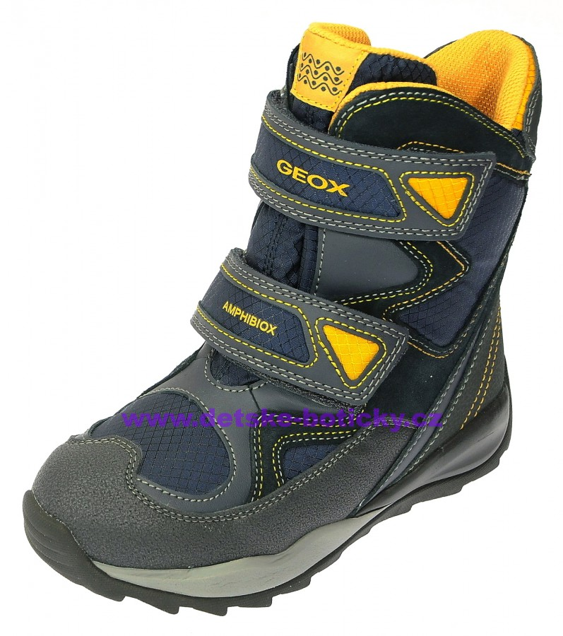 Geox J640BC 0FU22 C4054 navy/yellow
