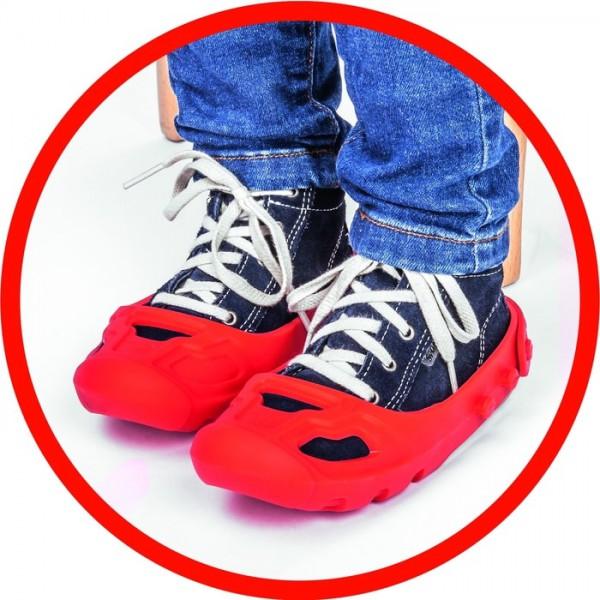 Fotogalerie: Big Shoe Care Ochranné návleky červené - chránič na obuv