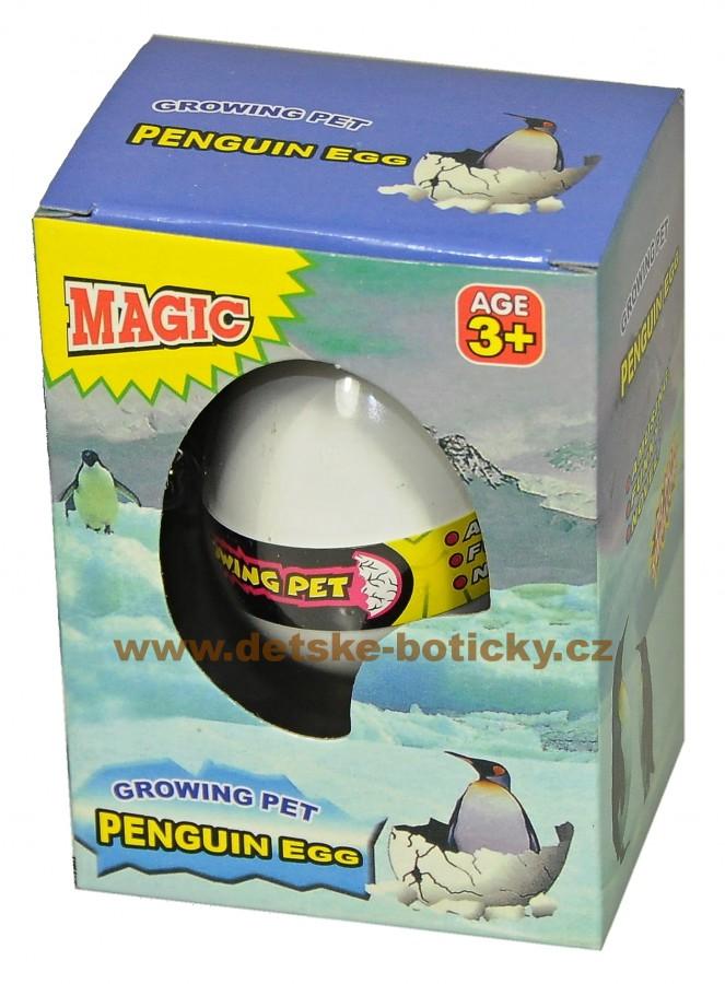 Growing pet penguin egg líhnoucí vejce tučňák