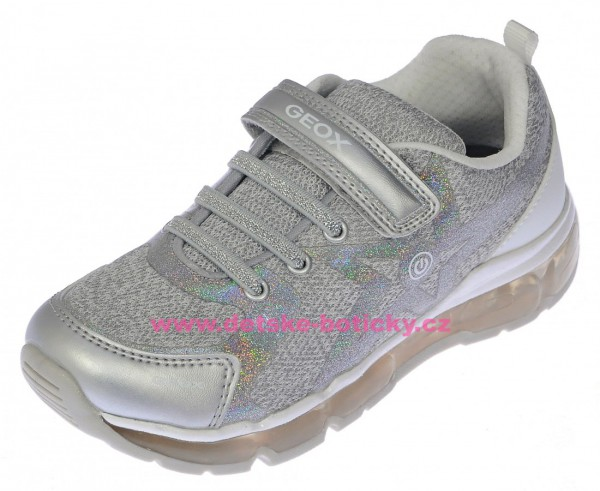 Geox J8245B 02ANF C0434 silver/white