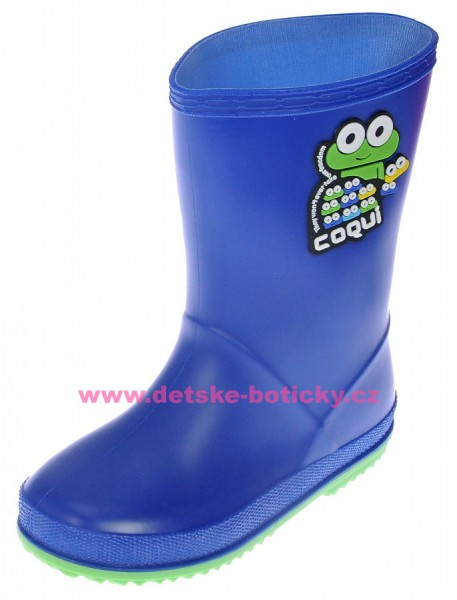 Coqui RAINY 8505 blue/lime holínka 102463