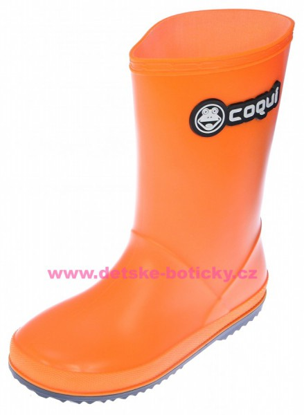 Coqui RAINY 8506 orange/navy holínka 102470