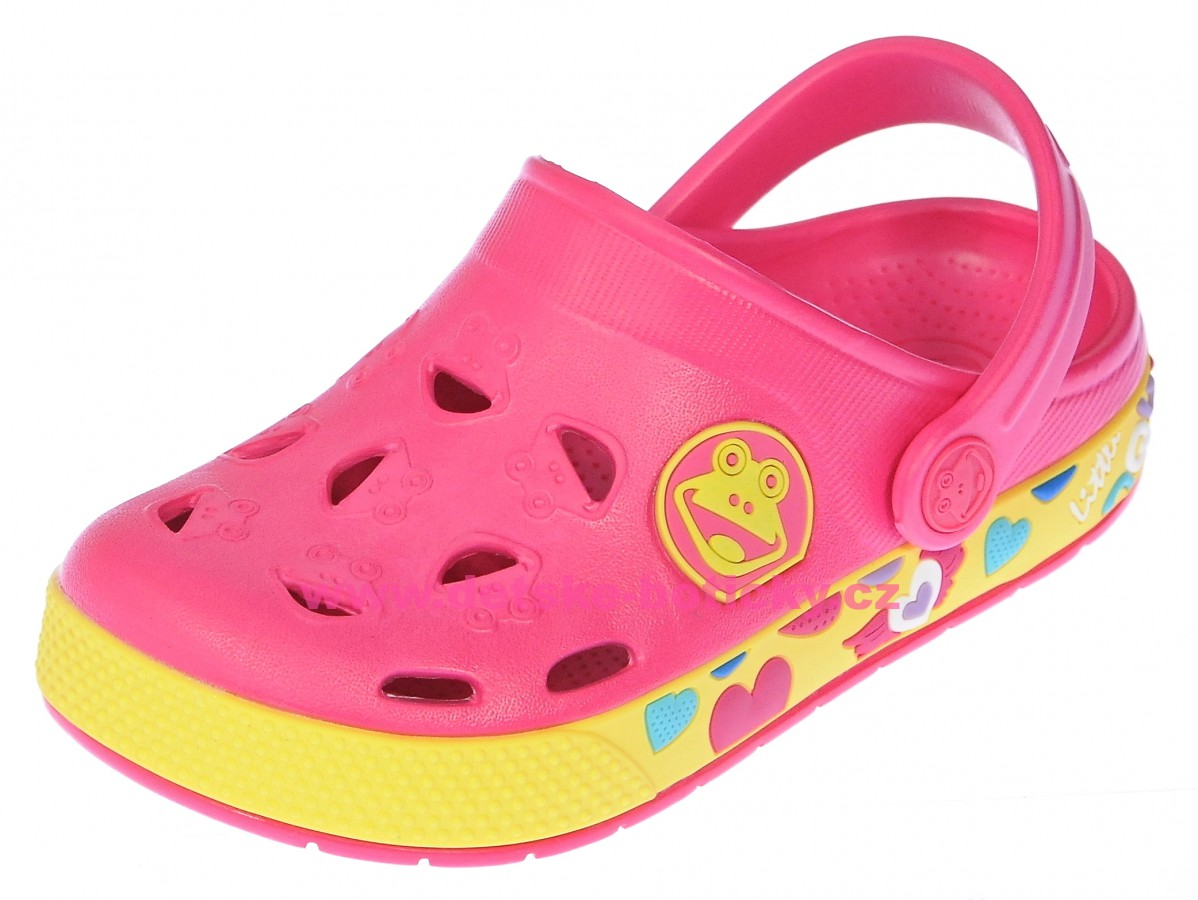 Coqui Froggy 8802 lt.fuchsia/yellow 102343