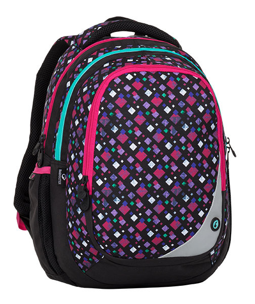 Bagmaster MAXVELL 8 A BLACK/PINK/GREEN