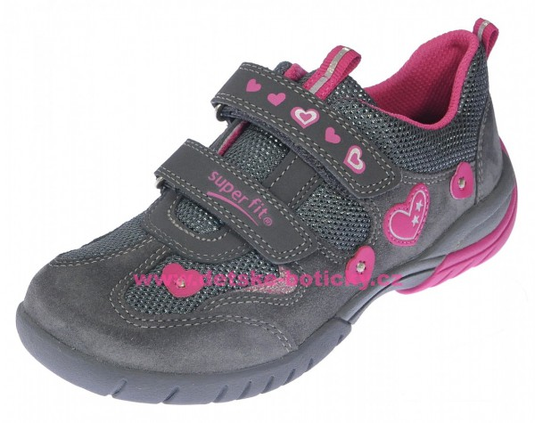 Superfit 8-09135-20 Sport3 grau/rosa