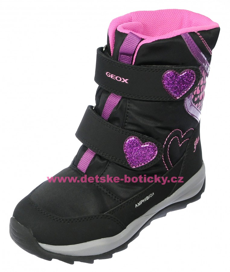 Geox J842BE 0FU50 C0922 black/fuxia