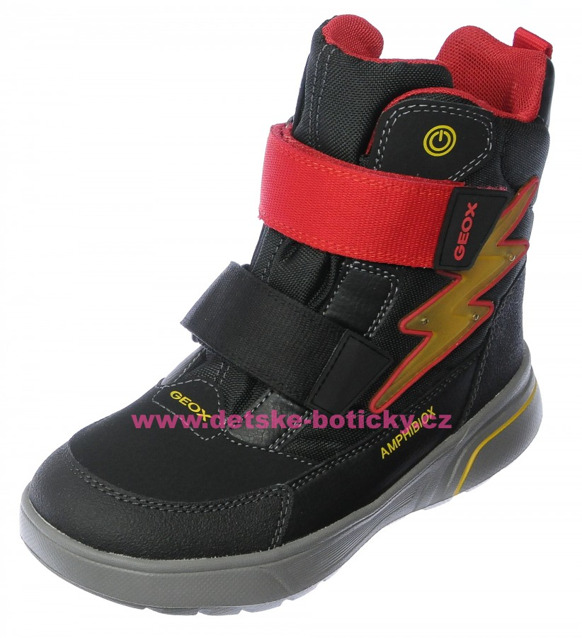 Geox J847UC 0CEFU C0048 black/red