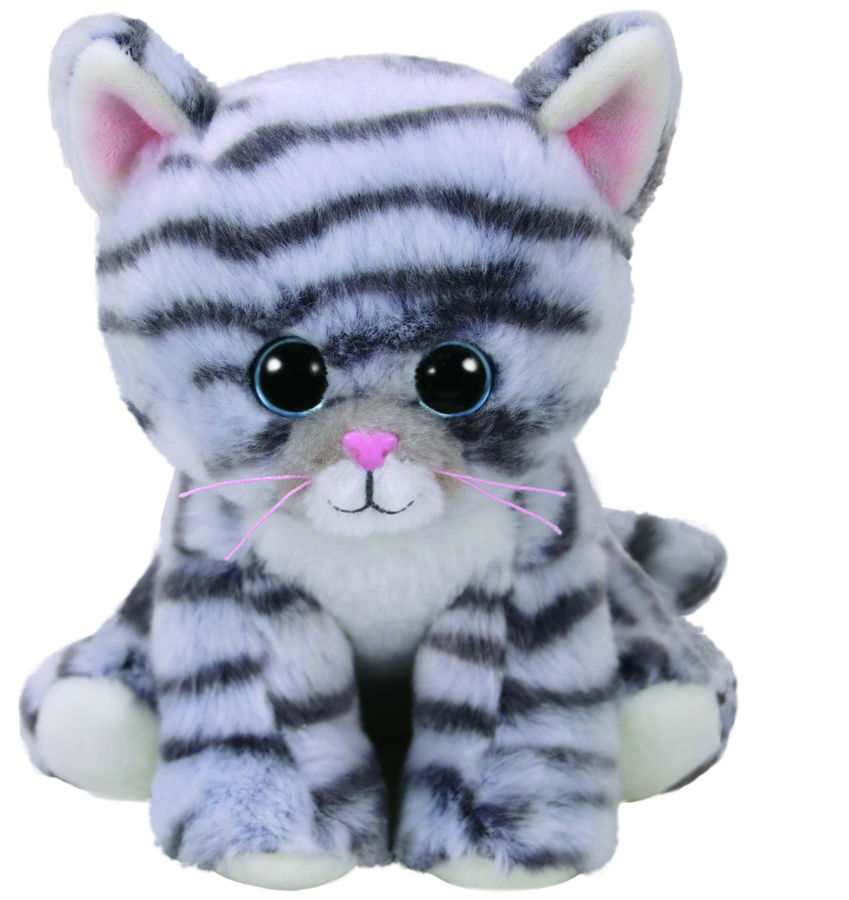 TY Beanie Babies Millie - grey tabby cat 6