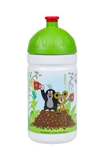 Zdravá lahev V050241 Krtek a jahody 0,5l - zelené