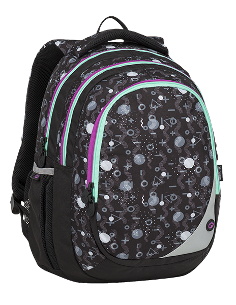 BAGMASTER MAXVELL 9 A BLACK/GRAY/VIOLET