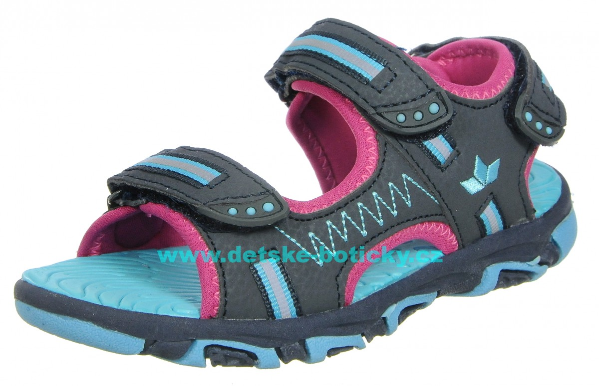 Lico 470139 Crispy V marine/pink/turkis