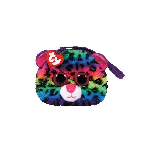 Ty Fashion peněženka DOTTY - vícebarevný leopard, 10 cm