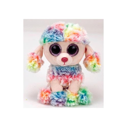 TY Beanie Boos RAINBOW - vícebarevný pudl, 15 cm