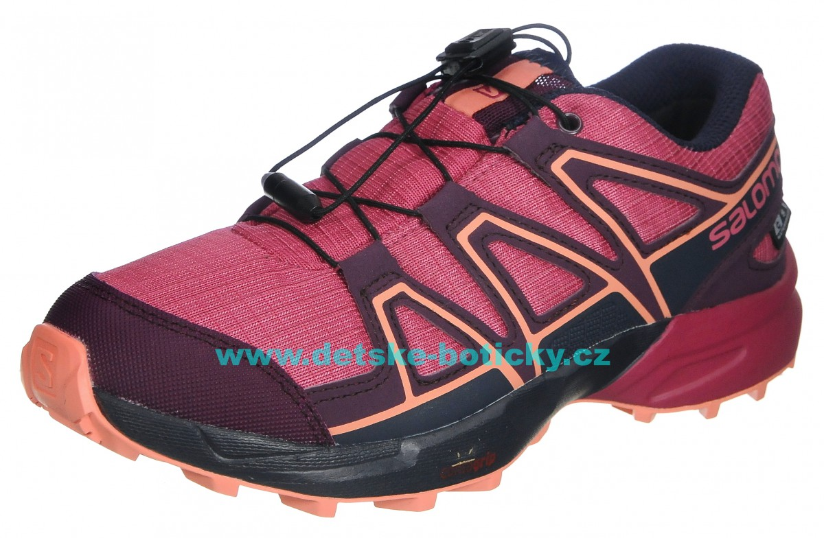 Salomon Speedcross CSWP J 406546 malaga/potent purple/desert flower
