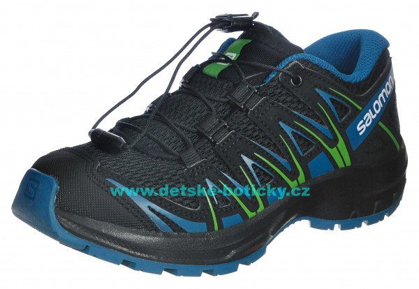Salomon XA PRO 3D J 406388 black/deep lagoon/onlime lime