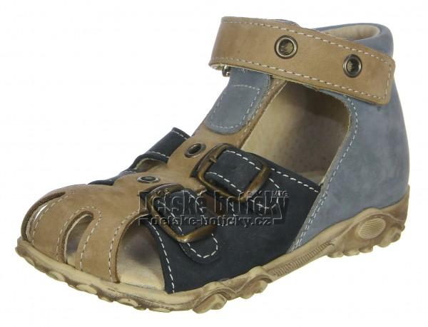 Boots4U T113 modrá/sv.hnědá