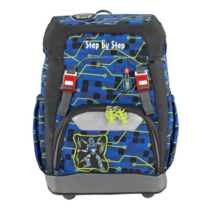 Hama 129662 Školní batoh Step by Step GRADE Robot + BONUS Desky na sešity za 1,- Kč