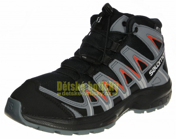 Salomon XA PRO 3D MID CSWP J 406512 black/stormy weather/cherry tomato