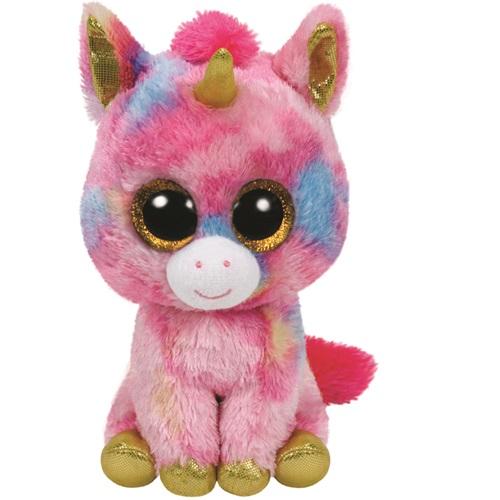 Ty Beanie Boos FANTASIA - vícebarevný jednorožec, 15 cm