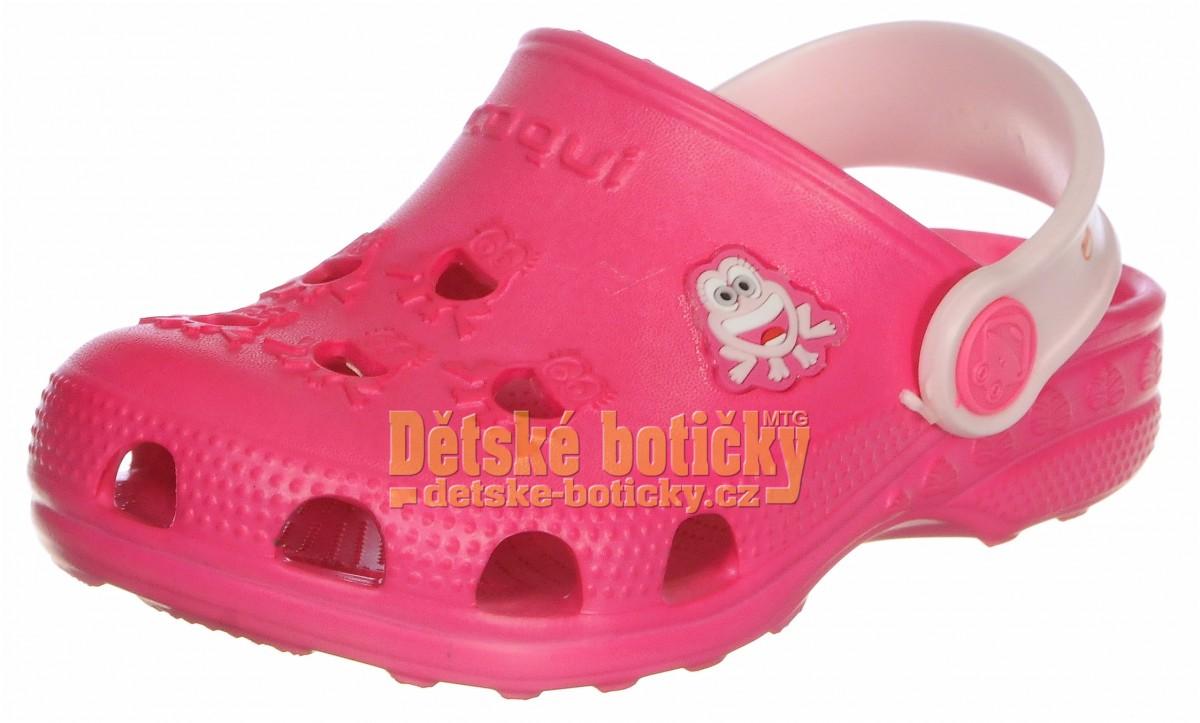 Coqui Little Frog 8701-100-3655 lt fuchsia/pale pink