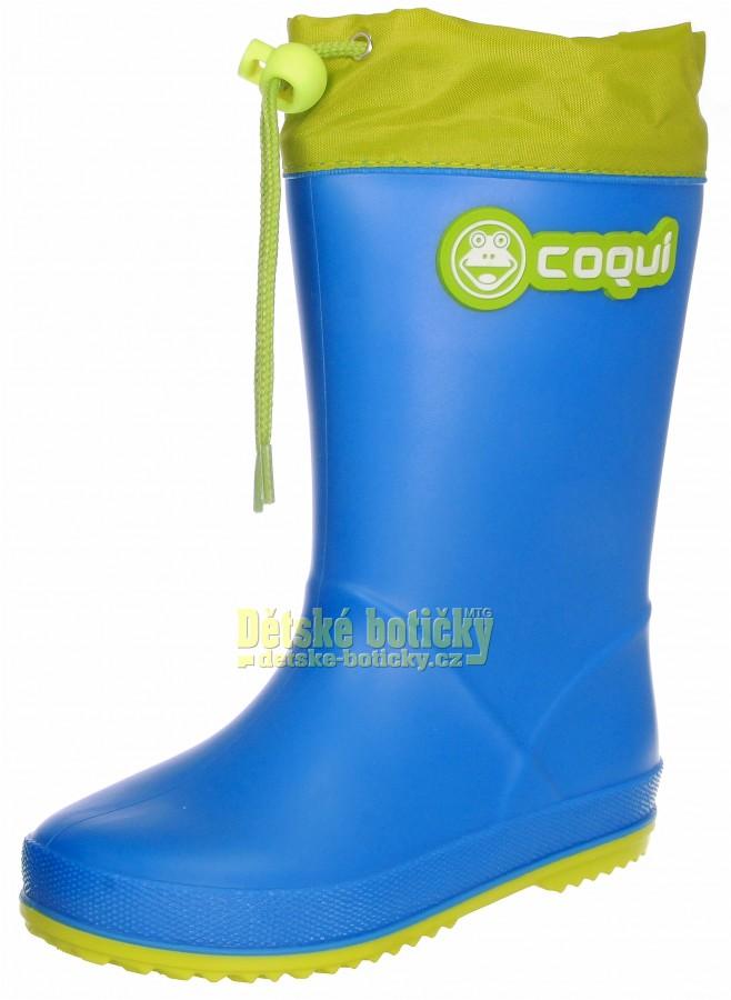 Coqui Rainy collar 8509-100-4713 sea blue/citrus