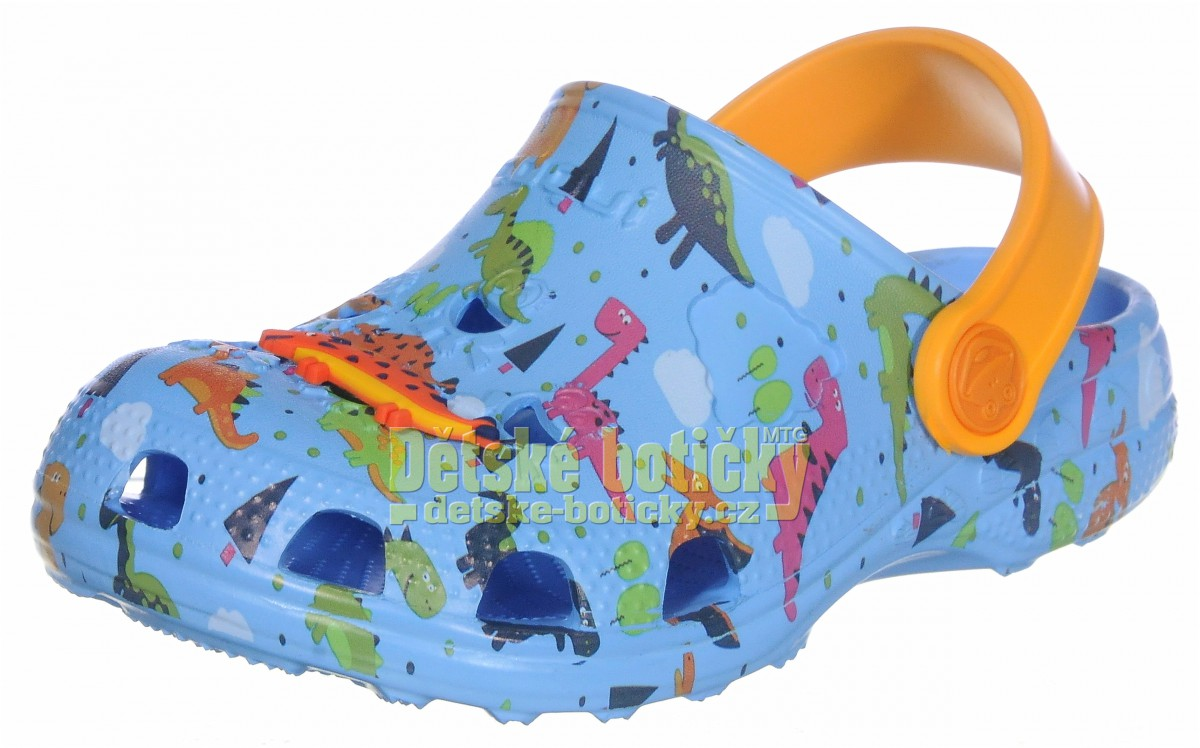 Coqui Little Frog 8701-248-1711 lt.blue/lt.orange dino + amulet