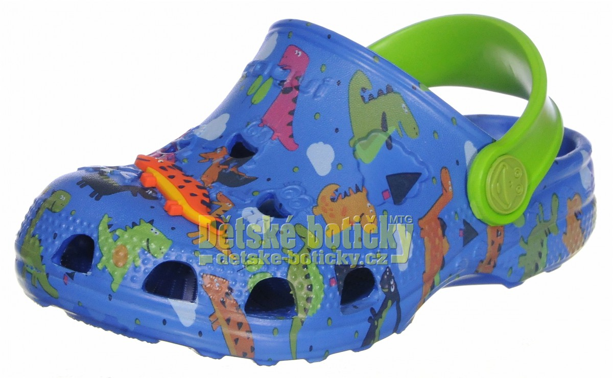 Coqui Little Frog 8701-248-2014 royal/lime dino + amulet
