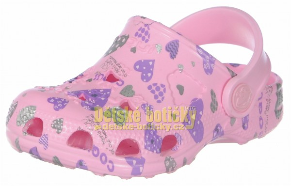 Coqui Little Frog 8714-224-3800 pink hearts