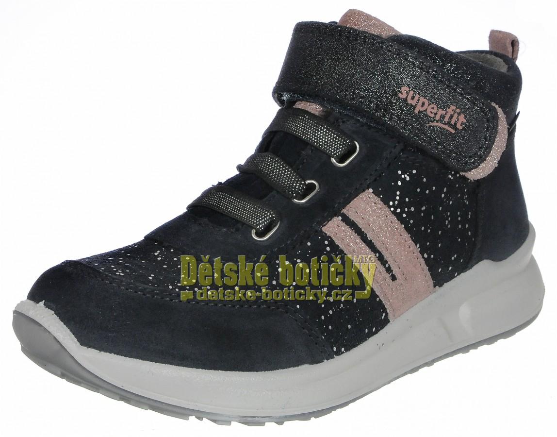Superfit 1-009184-2000 Merida halbschui grau/rosa