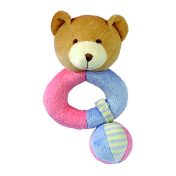 Bino 86457 - Plyšové štěrkátko (medvídek)