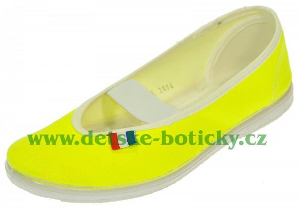 jarmilky 729-323 neon žlutozelený cvičky