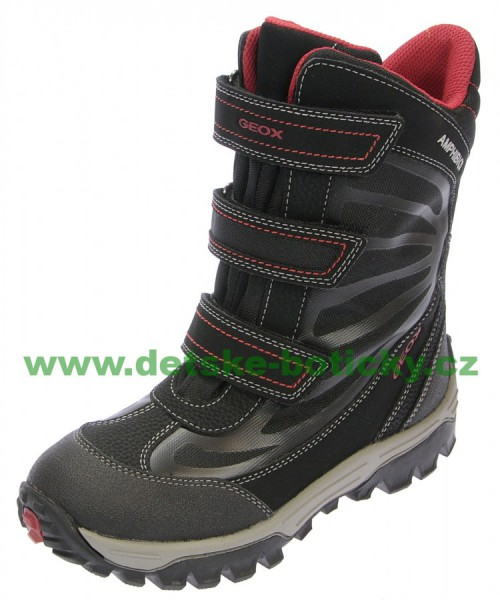 Geox J44B5A 0FUCE C0048 black/red