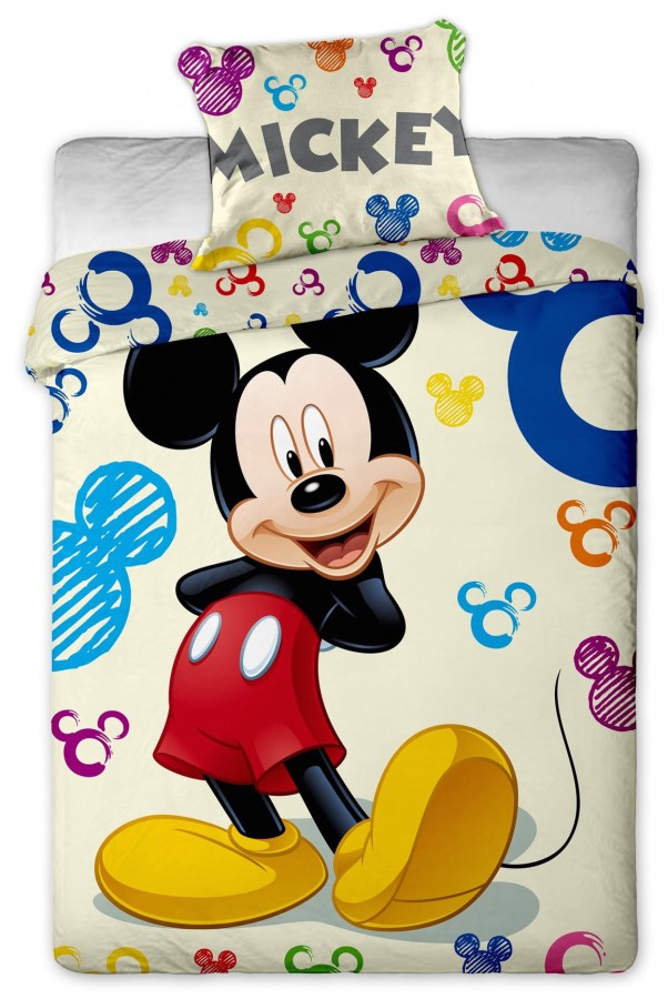Jerry Fabrics Povlečení Disney - Mickey Colours 140x200 70x90
