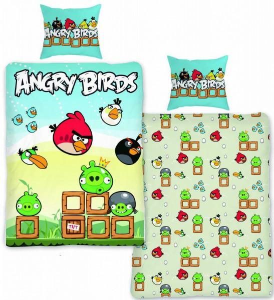 Jerry Fabrics Povlečení Angry Birds AB004 140x200 70x90