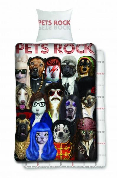 Jerry Fabrics Povlečení Pets rock 140x200 70x90