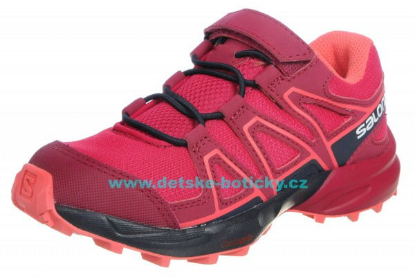 Salomon Speedcross Bungee K 404823 cerise/navy blazer/dubarry