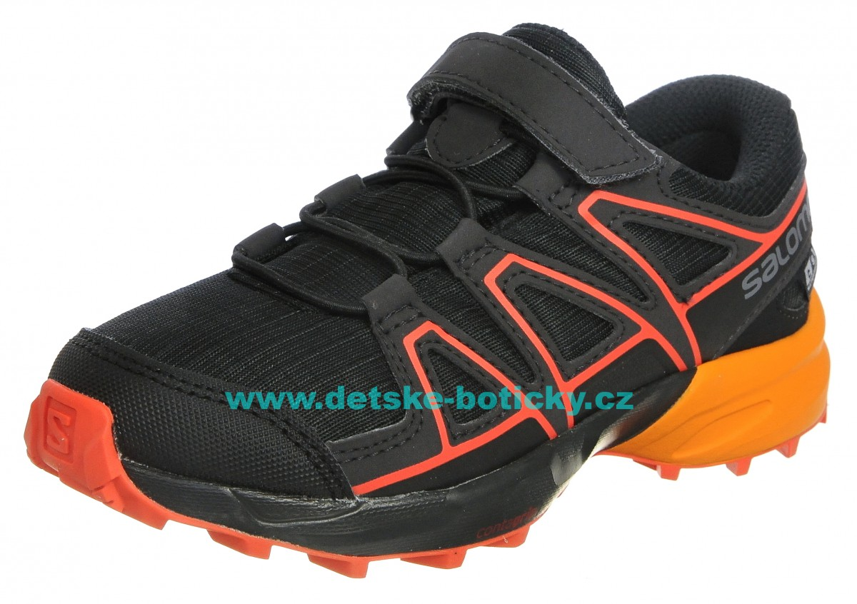 Salomon Speedcross CSWP K 404816 black/tengelo/cherry tomato