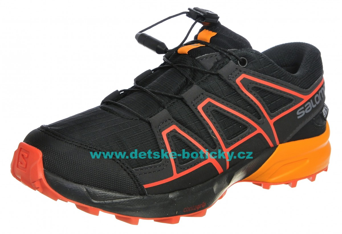 Salomon Speedcross CSWP J 404812 black/tangelo/cherry tomato